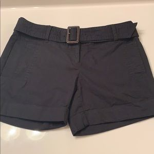 The Limited Black belted shorts